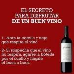 El secreto para disfrutar de un buen vino...