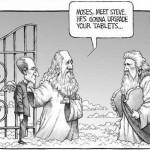 Encuentro de Steve Jobs y Moisés y las tablas...