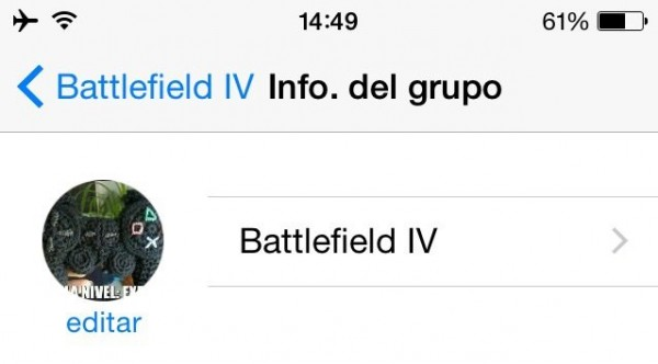 Grupo de WhatsApp para jugar al Battlefield-iv
