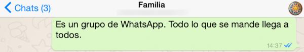 Grupo de WhatsApp familia