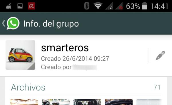 Grupo de WhatsApp de los Smarteros