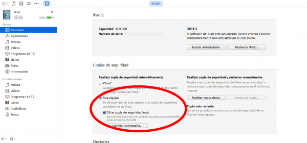 Borrar todos los contenidos del iPhone, iPad o iPod touch y restaurarlo de una copia de seguridad