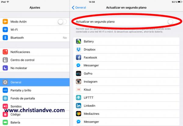 ¿iPhone o iPad lento por las aplicaciones en segundo plano?