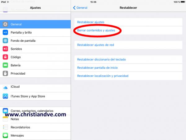 Borrar contenidos y ajustes del iPhone, iPad o iPod touch lento
