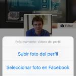 Cambiar foto o vídeo de perfil en Facebook en mi caso: Próximamente: vídeos de perfil