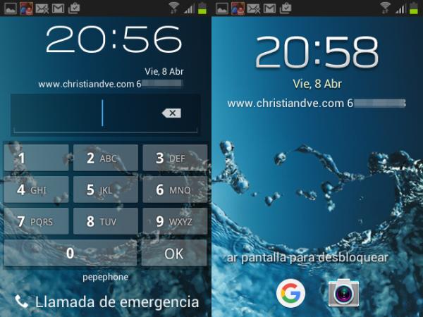 Información del propietario en Android
