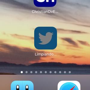 """Limpiando"" la app de Twitter"