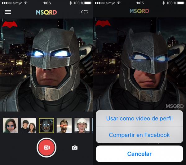 Cómo poner un vídeo de perfil de Facebook usando MSQRD