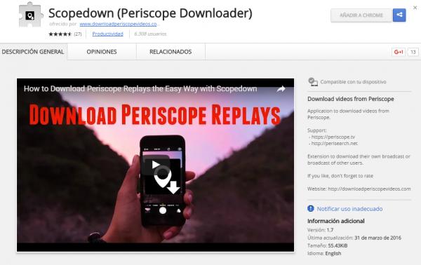 Scopedown: extensión para Chromium/Google Chrome