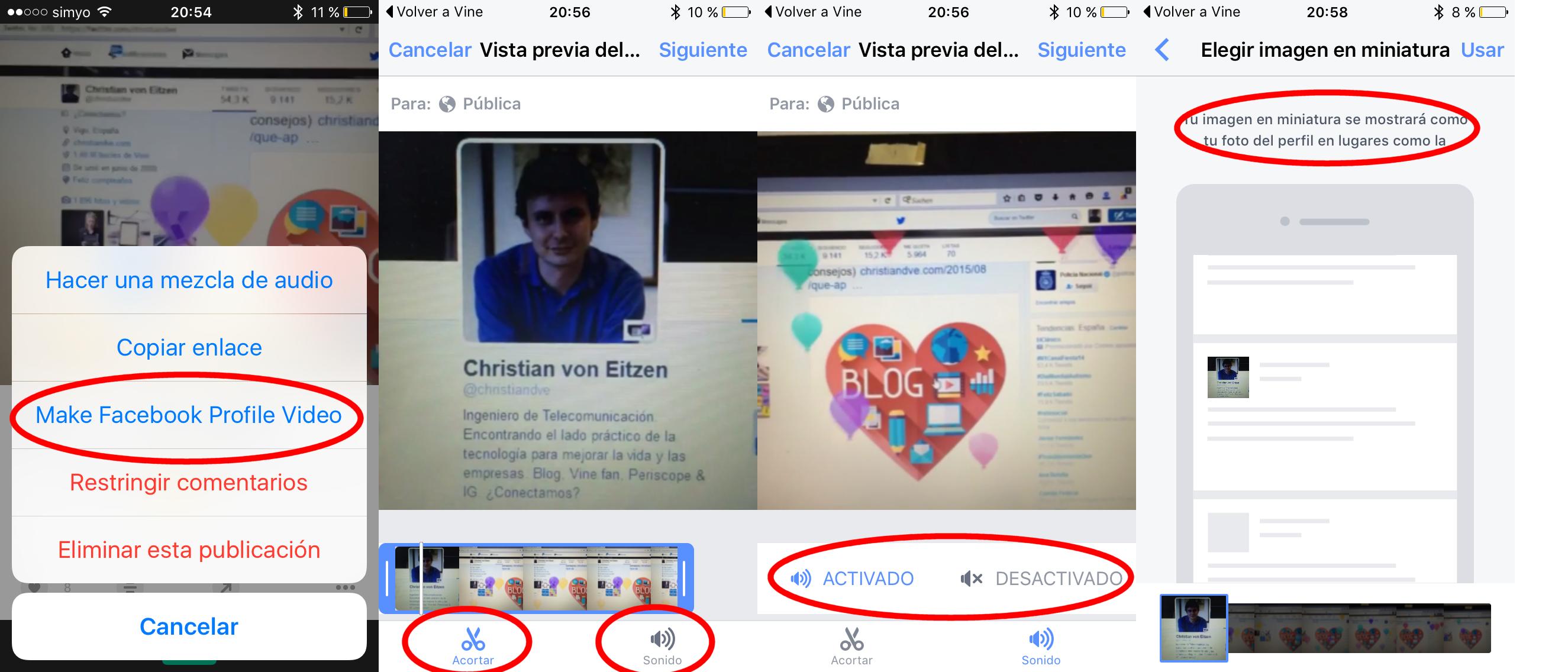 V deo de perfil en facebook ponerlo en android y truco for Como poner fotos en la pared