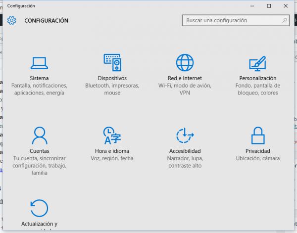 Windows + I: Panel de configuración de Windows