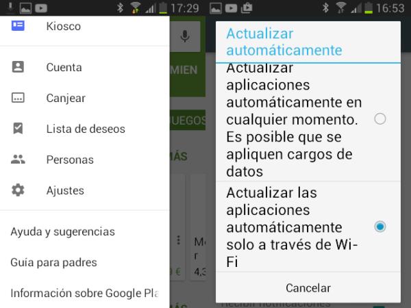 Activar las actualizaciones automáticas en Android