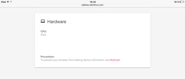 Hardware que detecta la web (iPad)
