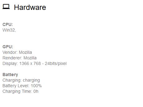 Hardware que detecta la web
