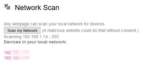 Network scan en el ordenador (si concedemos el permiso)