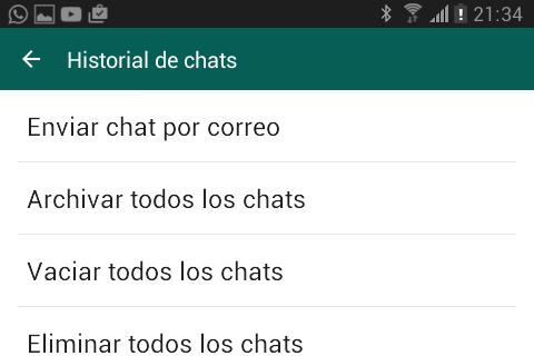 Cómo vaciar todos los chats de golpe en Android