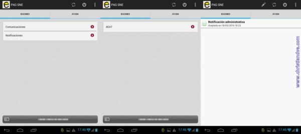 Buzón de notificaciones y comunicaciones en Android una vez instalado
