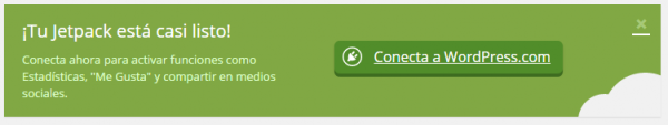 Conectar el Jetpack en WordPress