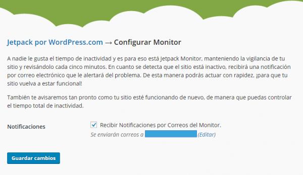 Configurar el monitor supervisor de Jetpack