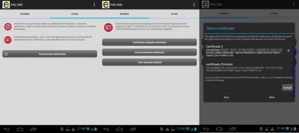 Configurar las notificaciones electrónicas: usar el almacén de Android
