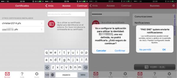 Instalar las notificaciones electrónicas en iPhone