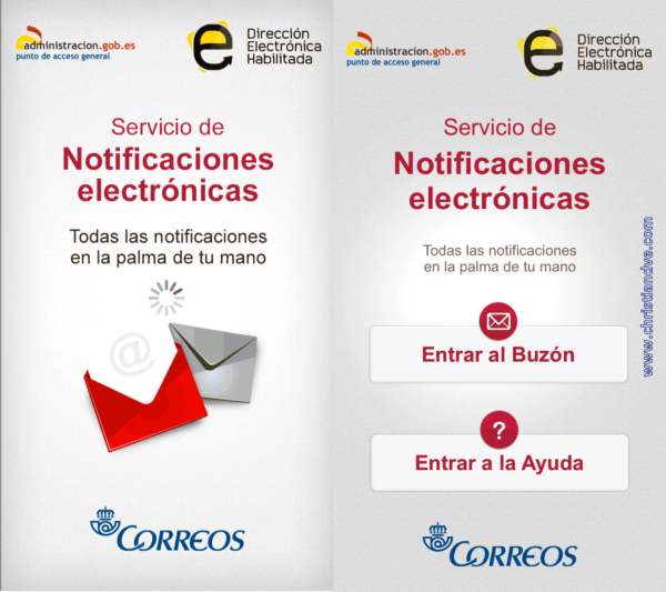 Servicio de notificaciones electrónicas vía app en el iPhone