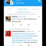 Menciones en Twitter Engage