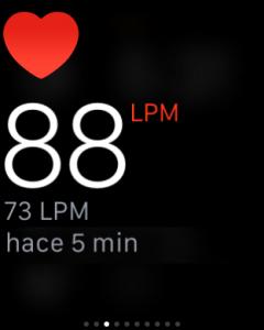 Medición de la frecuencia cardíaca en el Apple Watch