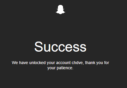 Success We have unlocked your account chdve, thank you for your patience.