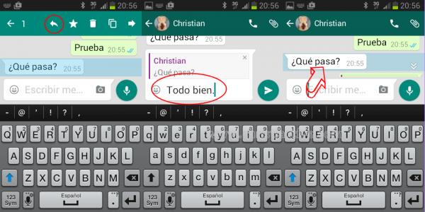 Cómo responder a un mensaje en WhatsApp para Android