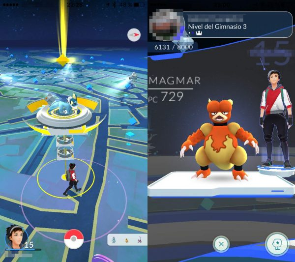 Gimnasio de Pokémon Go