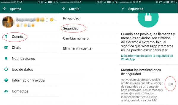 Aviso: cambio del código de seguridad en Android