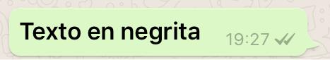 Texto en negrita en WhatsApp
