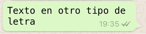 WhatsApp en otro tipo de letra
