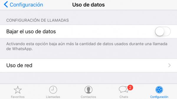 Cómo ahorrar batería y datos móviles en las llamadas de WhatsApp en iPhone