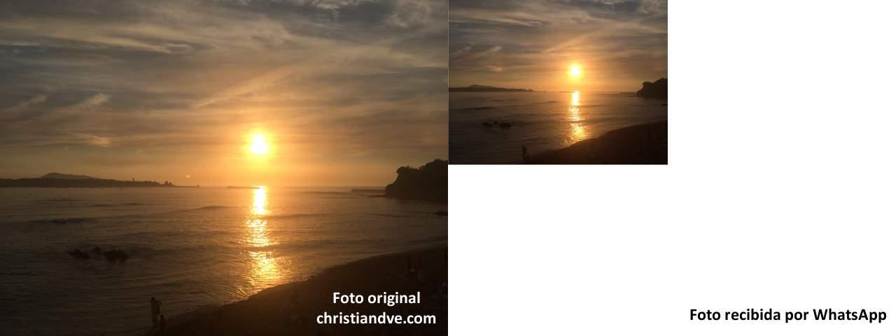 Relación entre la foto original de alta calidad enviada por WhatsApp y la  recibida 4d53492db8f2f