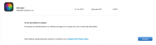 Apple: se ha cancelado la compra