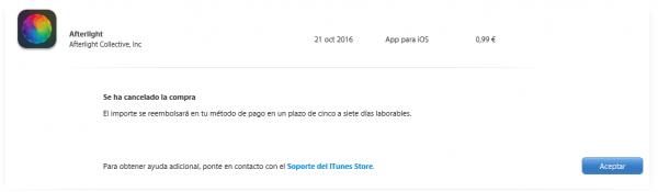 Apple: se ha cancelado la compra
