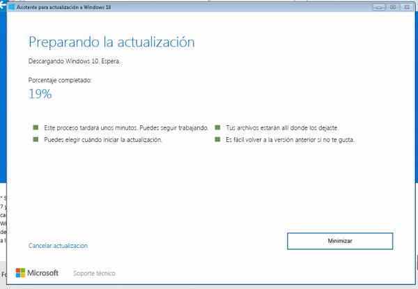 Preparando la actualización a Windows 10