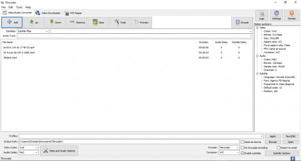 TEncoder video converter - Video/audio converter