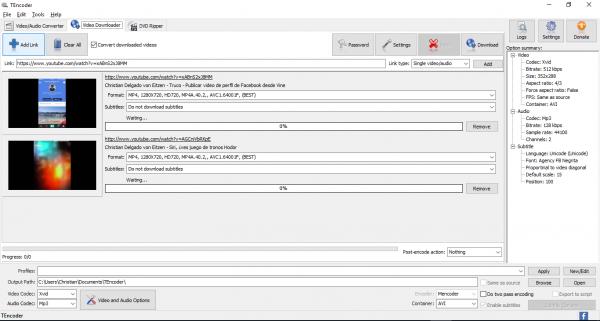 TEncoder video converter - Video downloader