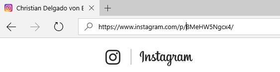 Dirección web de la foto de Instagram