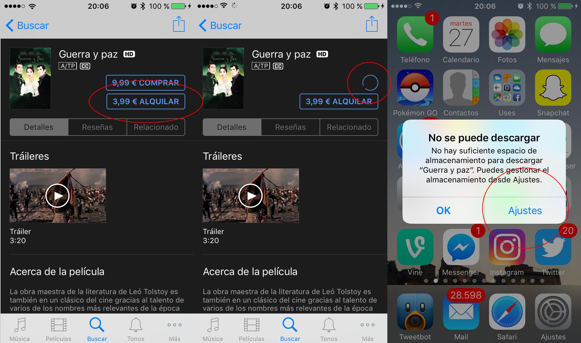 1be1a561627 Liberar espacio: truco para iOS 10 en iPhone/iPad que funciona