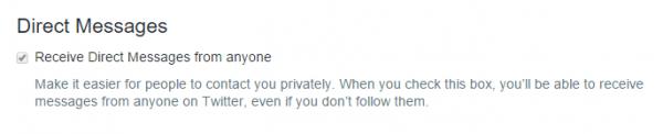 Recibir mensajes directos de cualquiera en Twitter - Receive Direct Messages from anyone