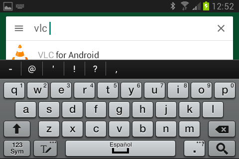 """Buscar VLC para Android en Google Play como solución a """"No se puede reproducir vídeo en WhatsApp"""""""