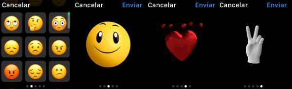 Contestar con un emoticono/emoji, carita sonriente (animada o no) o similares