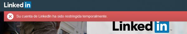 Cuenta restringida de LinkedIn temporalmente