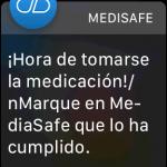 Recordatorio de tomar la medicación en el Apple Watch