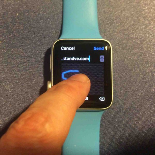 Escribir directamente letras en el Apple Watch con Scribble