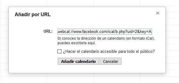 Cómo añadir los cumpleaños de los amigos de Facebook a Google Calendar - Añadir